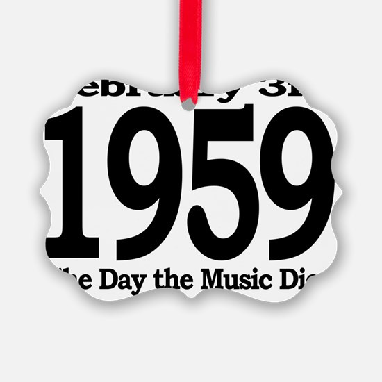 The Day the Music Died February 3 Ornament