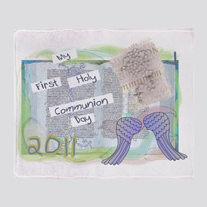 My First Holy Communion Throw Blanket