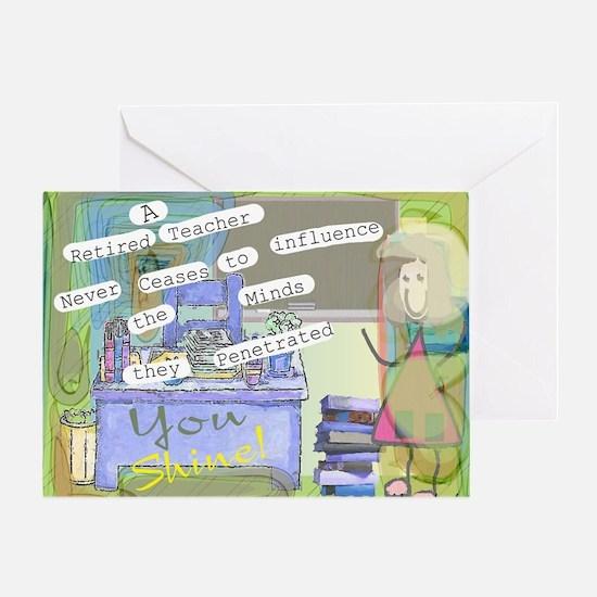 Retired Teacher ART 1 Greeting Card