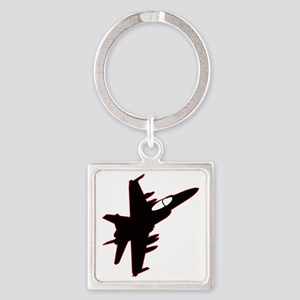 F-18 Square Keychain