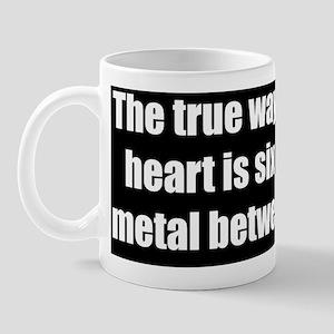 mans heart bumper Mug