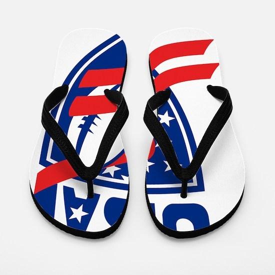 USA American Rugby Ball Shield Flip Flops