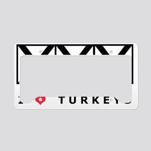 Bowling, I Love Turkeys, T-Sh License Plate Holder