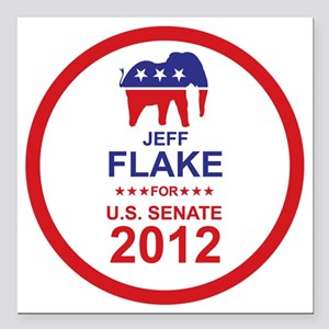 "2012_jeff_flake_main Square Car Magnet 3"" x 3"""