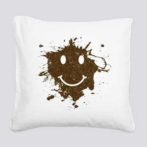 MudSmiley_product Square Canvas Pillow