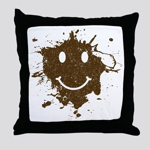 MudSmiley_product Throw Pillow