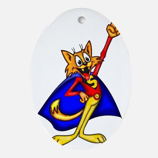 cartoon_cats_092 Oval Ornament