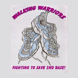 Walking Warriors cafe Throw Blanket