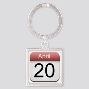 iphone date 420 Square Keychain