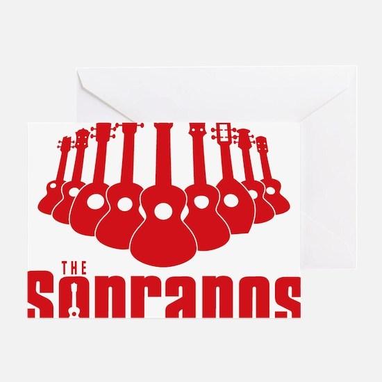 Sopranos Ukuleles Greeting Card