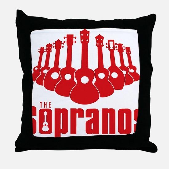 Sopranos Ukuleles Throw Pillow