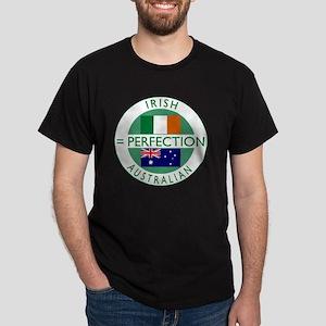 irish australian flags round Dark T-Shirt