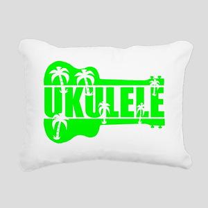 hawaiian ukulele uke pal Rectangular Canvas Pillow