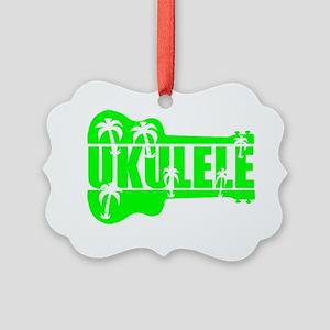 hawaiian ukulele uke palm tree de Picture Ornament