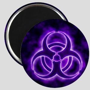 glowingBiohazard3Purple Magnet