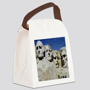Mount_Rushmore_photomosaic Canvas Lunch Bag