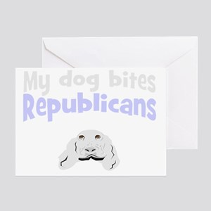 Funny anti-republican gift Greeting Card