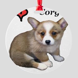 puppy 1 Round Ornament