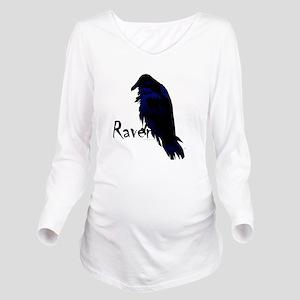 Raven on Raven Long Sleeve Maternity T-Shirt