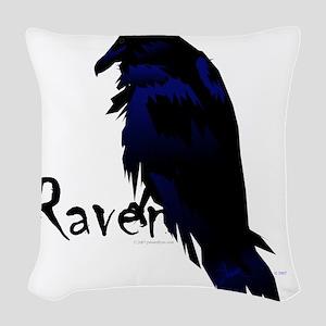 Raven on Raven Woven Throw Pillow