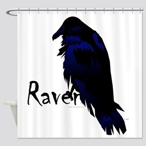 Raven On Raven Shower Curtain
