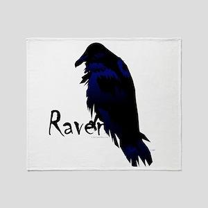 Raven on Raven Throw Blanket