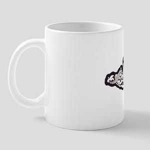 columbus white letters Mug