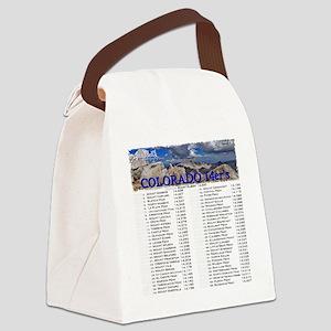 CO 14ers List T-Shirt NO BKGRND Canvas Lunch Bag