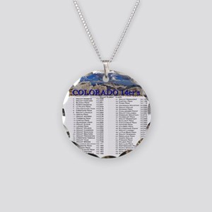 CO 14ers List T-Shirt NO BKG Necklace Circle Charm