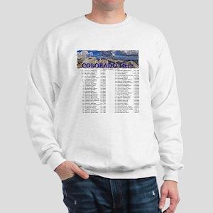 CO 14ers List T-Shirt NO BKGRND Sweatshirt