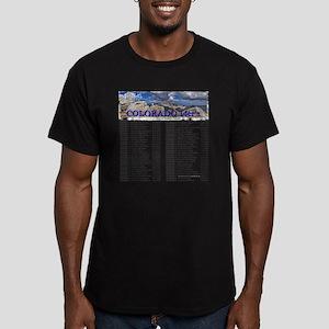 CO 14ers List T-Shirt  Men's Fitted T-Shirt (dark)