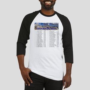 CO 14ers List T-Shirt NO BKGRND Baseball Jersey