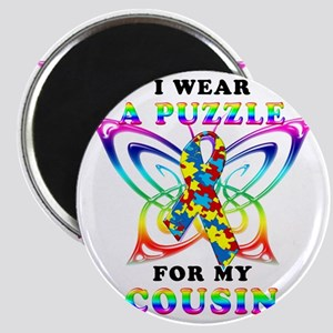 I Wear A Puzzle for my Cousin Magnet