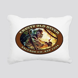CRUSTY OLD DIVER SALVAGE Rectangular Canvas Pillow