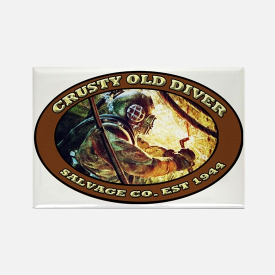 CRUSTY OLD DIVER SALVAGE CO. Rectangle Magnet