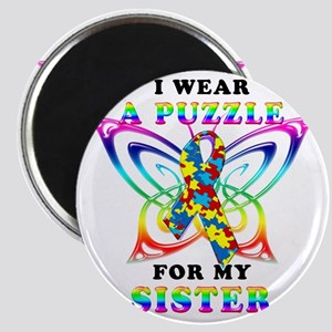 I Wear A Puzzle for my Sister Magnet