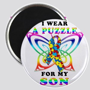 I Wear A Puzzle for my Son Magnet