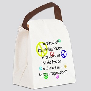 peacereallyuse Canvas Lunch Bag
