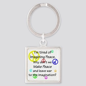 peacereallyuse Square Keychain