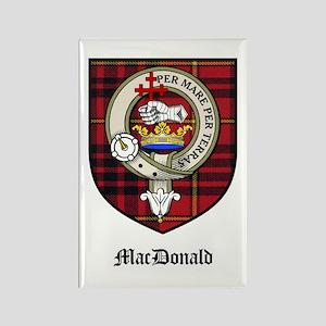 MacDonald Clan Crest Tartan Rectangle Magnet (10 p