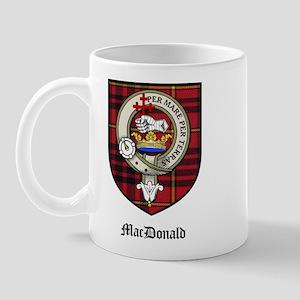 MacDonald Clan Crest Tartan Mug