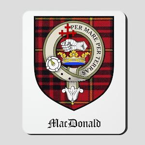 MacDonald Clan Crest Tartan Mousepad