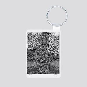Tree Clef-1 Aluminum Photo Keychain