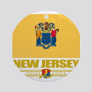 New Jersey (Flag 10) Round Ornament