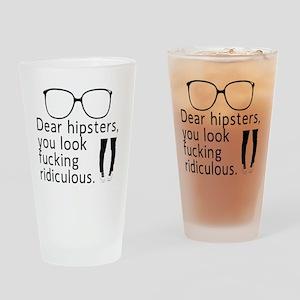 HIPSTERRR Drinking Glass