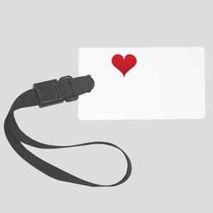 I-heart-my-triathlete-handofsean Large Luggage Tag