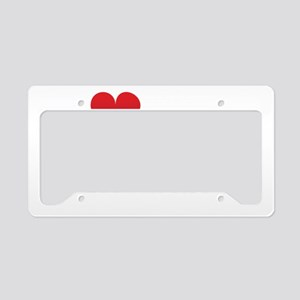 I-heart-my-triathlete-handofs License Plate Holder
