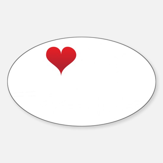I-heart-my-triathlete-handofsean-wh Sticker (Oval)