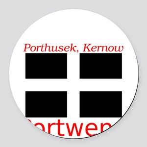 Portwenn_Dark Round Car Magnet