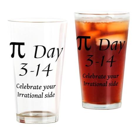 pie-day-black2 copy Drinking Glass